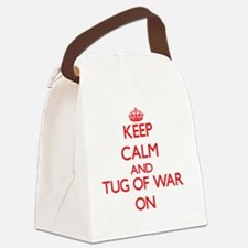 Keep calm and Tug Of War ON Canvas Lunch Bag