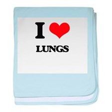 I Love Lungs baby blanket