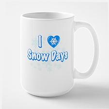 I Love Snow Days Mugs