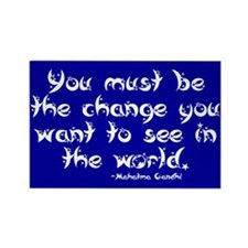 Cute Gandhi quotes Rectangle Magnet (10 pack)