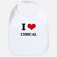 I Love Lyrical Bib