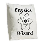 Physics Wizard Burlap Throw Pillow