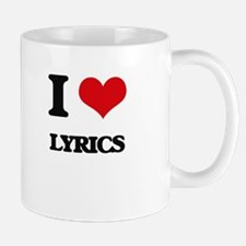 I Love Lyrics Mugs