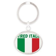 Cute Italian flag Oval Keychain