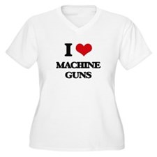I Love Machine Guns Plus Size T-Shirt