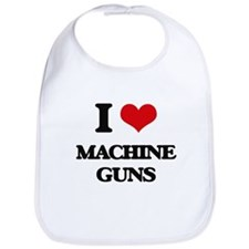 I Love Machine Guns Bib