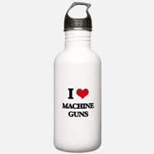 I Love Machine Guns Water Bottle