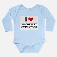I Love Machinery Operators Body Suit