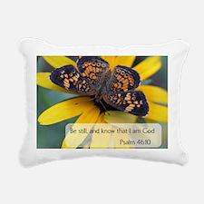 Bible Verses Psalm 46:10 Rectangular Canvas Pillow