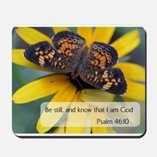 Bible Verses Psalm 46:10 Mousepad