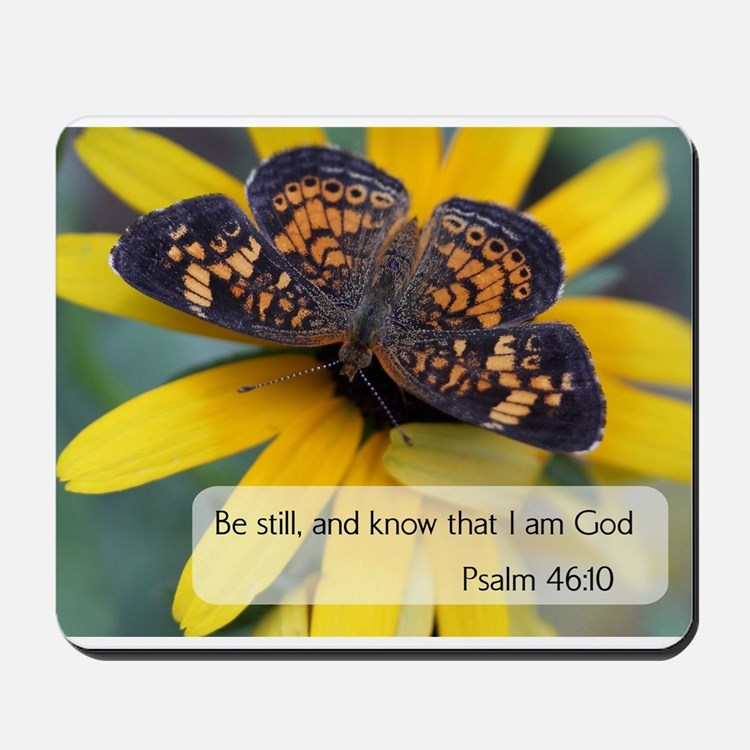 Bible Verses Psalm 46:10 Mousepad
