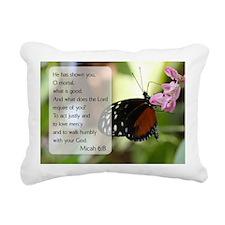 Bible Verse Micah 6:8 Rectangular Canvas Pillow