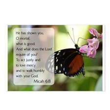 Bible Verse Micah 6:8 Postcards (Package of 8)