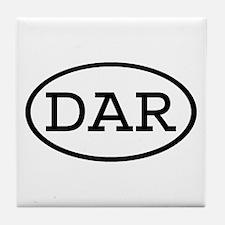 DAR Oval Tile Coaster