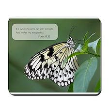 Bible Verse Psalm 18:32 Mousepad