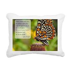 Bible VerseJohn 14:27 Rectangular Canvas Pillow