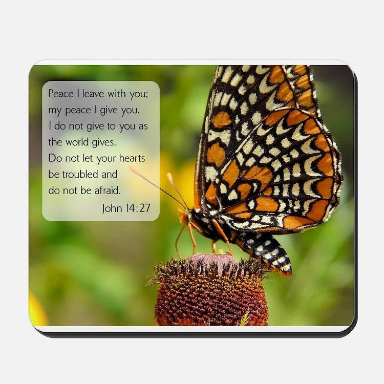 Bible VerseJohn 14:27 Mousepad