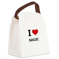 I Love Magic Canvas Lunch Bag