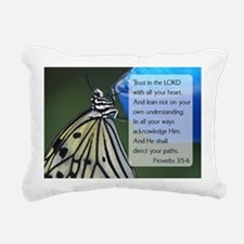 Bible Verse {rpverns 3:5 Rectangular Canvas Pillow