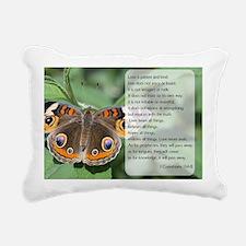 Bible Verse I Cornthians Rectangular Canvas Pillow