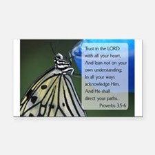 Bible Verse Proverbs 3:5-6 Rectangle Car Magnet
