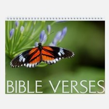 Bible Verses And Butterflies Wall Calendar