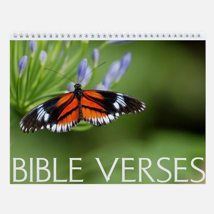 Bible Verses And Butterflies Wall Calendar