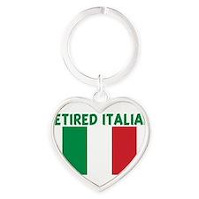 Cute Italian flag Heart Keychain
