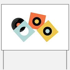 Vinyl Records Yard Sign