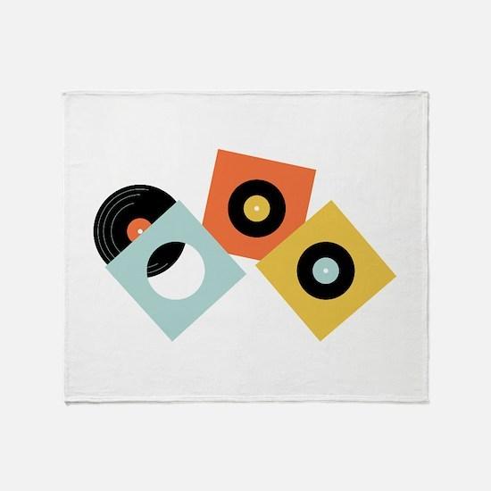 Vinyl Records Throw Blanket