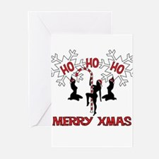 Unique Stripper christmas Greeting Cards (Pk of 20)