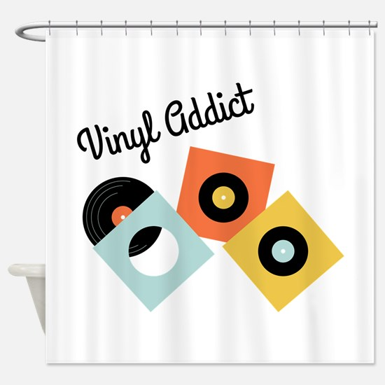 The Beat Goes Shower Curtain