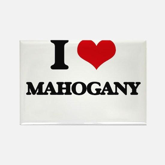 I Love Mahogany Magnets