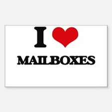 I Love Mailboxes Decal