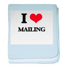 I Love Mailing baby blanket