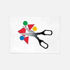 Scissors Shapes 5'x7'Area Rug