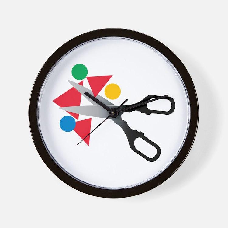 Scissors Shapes Wall Clock