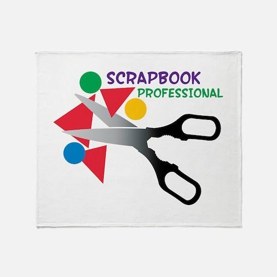 Scrapbook Professional Throw Blanket