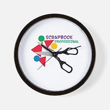 Scrapbook Professional Wall Clock
