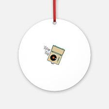 Vintage Vinyl Ornament (Round)