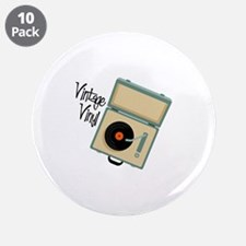 """Vintage Vinyl 3.5"""" Button (10 pack)"""