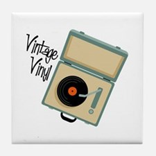 Vintage Vinyl Tile Coaster