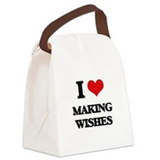 I love Making Wishes Canvas Lunch Bag