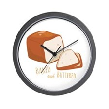 Baked and Buttered Wall Clock