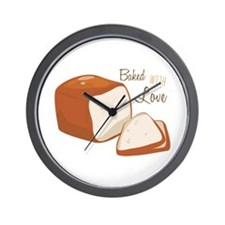 Baked with Love Wall Clock