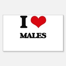 I love Males Decal