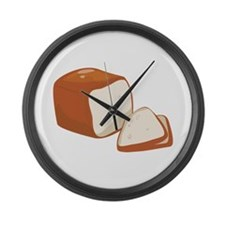 Loaf of Bread Large Wall Clock