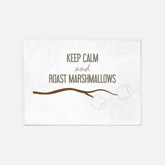 Keep Calm Marshmallows 5'x7'Area Rug