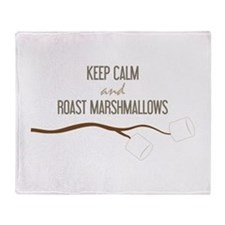 Keep Calm Marshmallows Throw Blanket