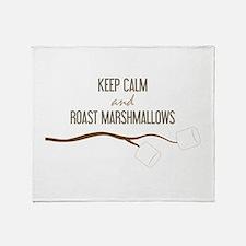 Keep Calm Marshmallows Throw Blanket